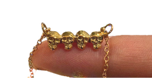 Skulls necklace