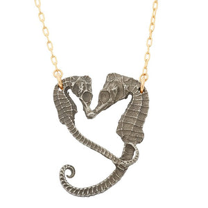 Seahorse Heart Necklace - georgiavaridakis