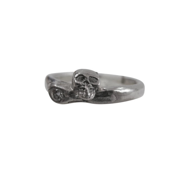 skull and diamond ring by Georgia Varidakis