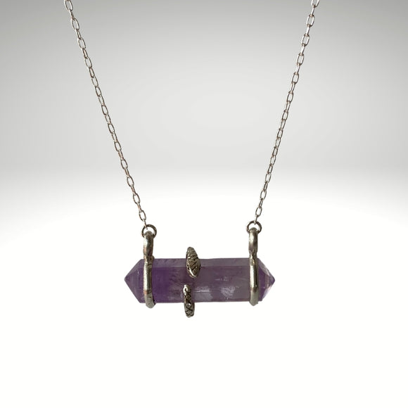 Amethyst Snake Necklace - One of a Kind