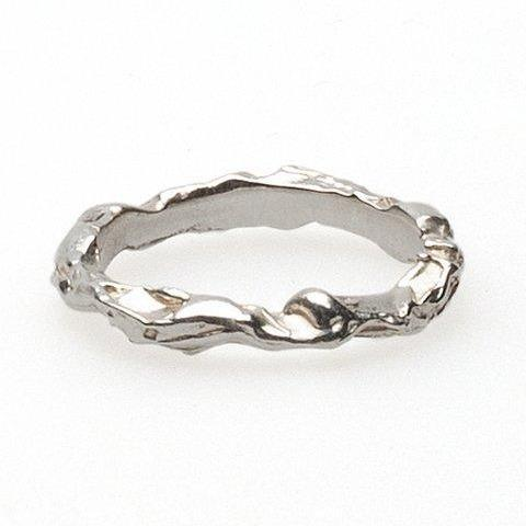 textured unisex twig branch ring alternative bridal
