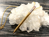 One of a Kind Pencil Necklace with a Sapphire Eraser