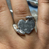 heart signet ring with snakes