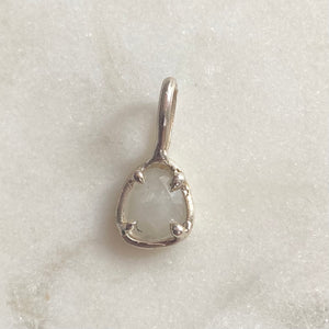 White Sapphire Pendant- ONE OF A KIND