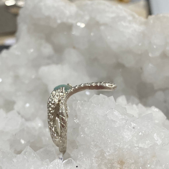 Triple Snake Stone Ring- Size 6- ONE OF A KIND