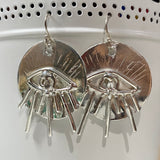 Topaz Eye Earrings- ONE OF A KIND