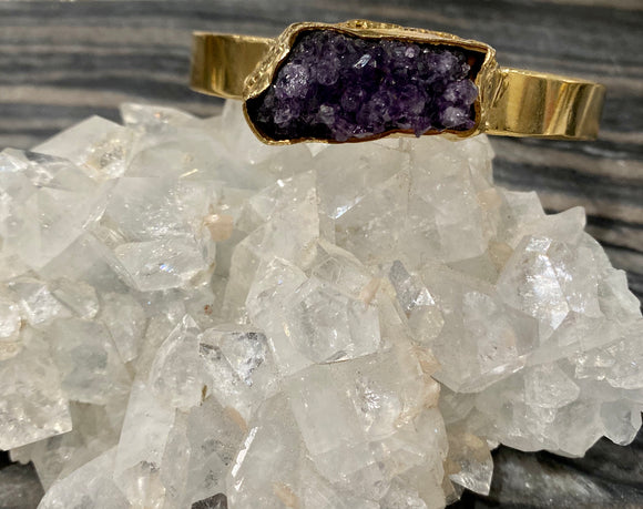 SALE The Artemis cuff in Amethyst 3 - ONE OF A KIND