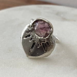 Sapphire Starburst Ring | Size 7.5 | One of a Kind | Ready to Ship
