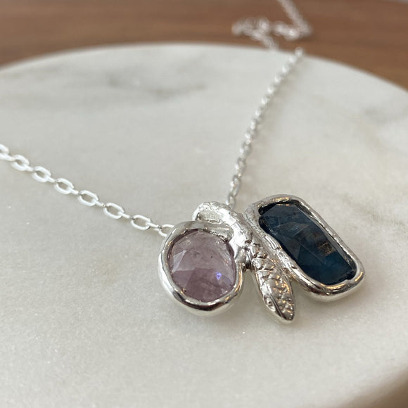 sapphire and kyanite snake necklace.