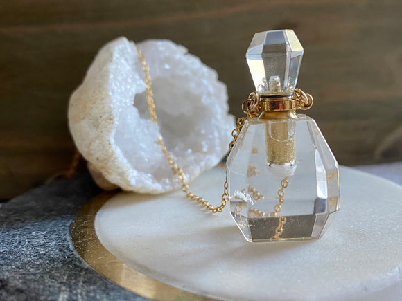 SALE Crystal Quartz Potion Necklace -ONE OF A KIND