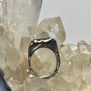 Sterling Silver Tourmaline Encrusted Stacking Ring - size 6 1/2 ONE OF A KIND