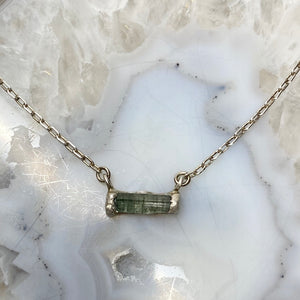 Tiny Tourmaline Necklace- ONE OF A KIND