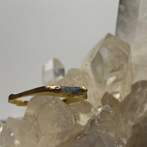Tourmaline Encrusted Stacking Ring - size 8.5-ONE OF A KIND