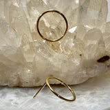 open circle earring studs