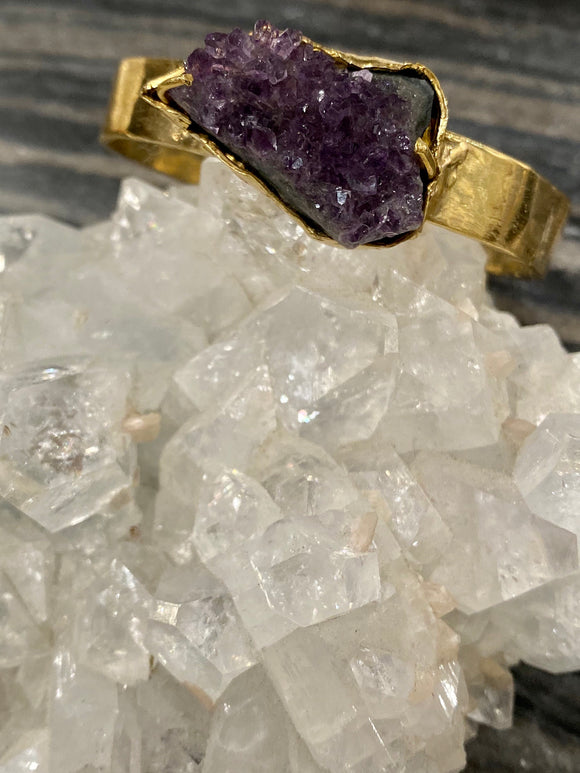 The Artemis cuff in Amethyst 2 - ONE OF A KIND