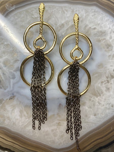 Snake Tassle Earrings