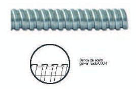TUBO METALICO FLEXIBLE ZAPA SLDX 32MM 1¼