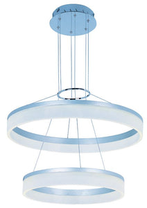 LUMINARIO SUSPENDIDO SATURN E22455-11MS 3000K 2 X 40W