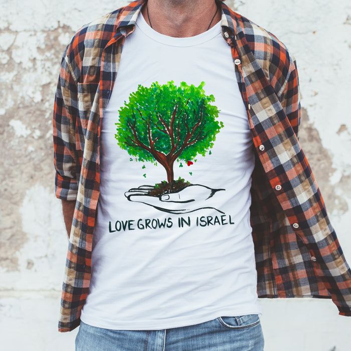 Men's Love Grows in Israel T-Shirt