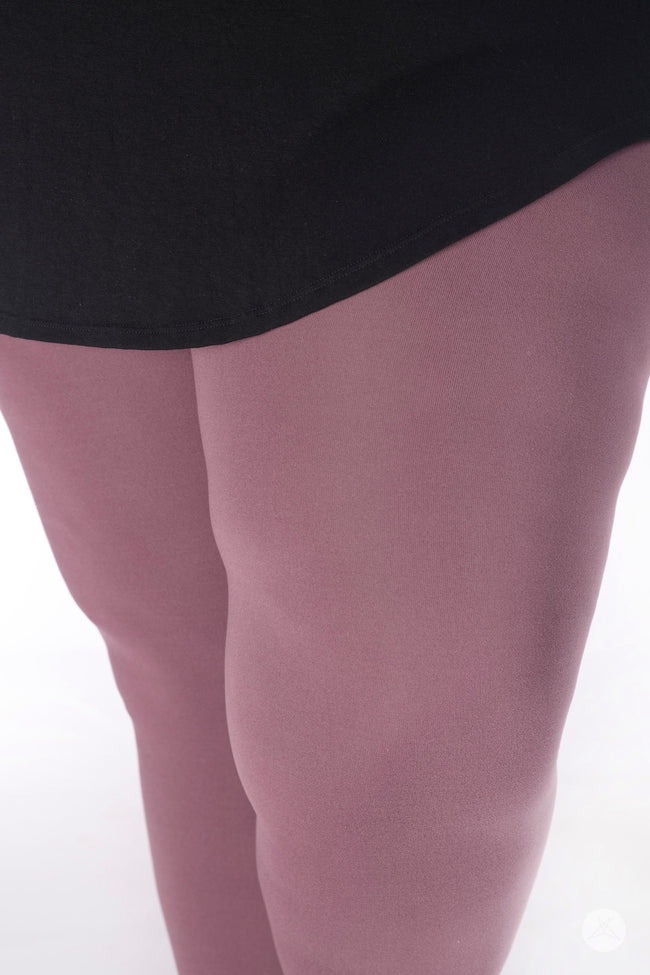 Mauving On Up Plus leggings - SweetLegs