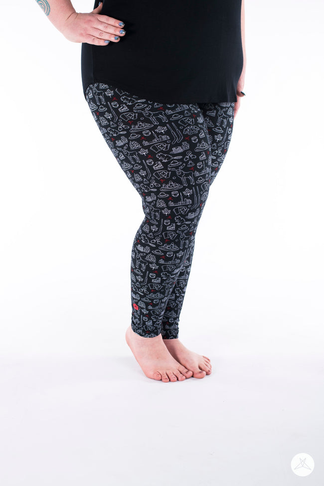 Oh Canada Plus leggings - SweetLegs