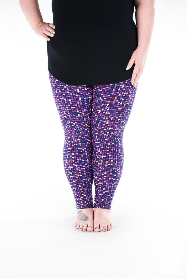 Be Mine Plus leggings - SweetLegs