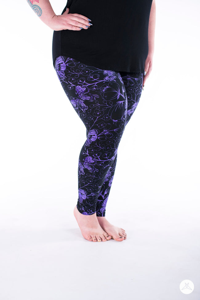 Butterfly Bliss Plus leggings - SweetLegs