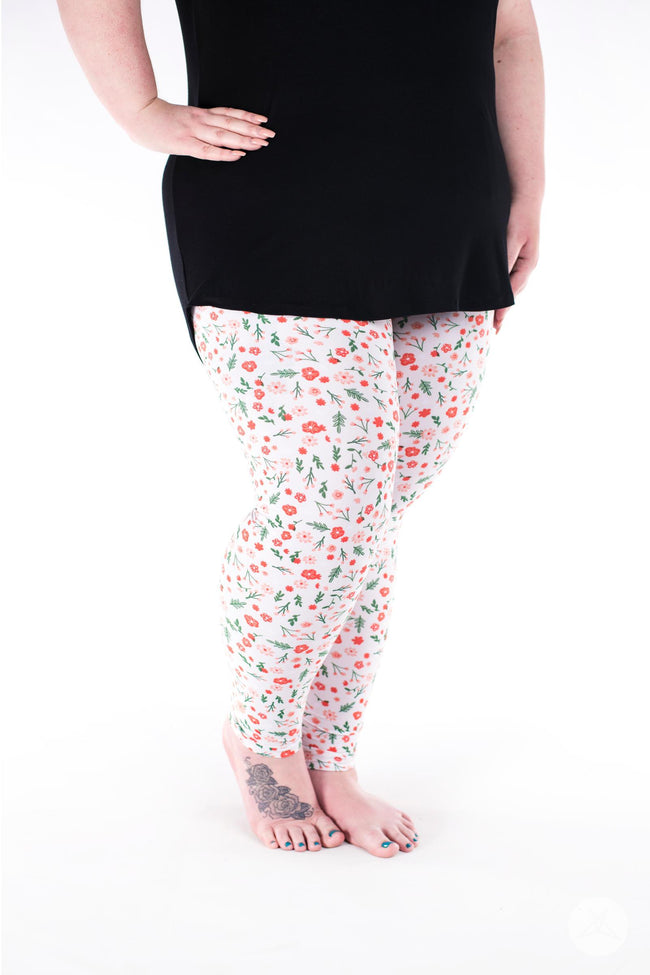 Flower Child Plus leggings - SweetLegs