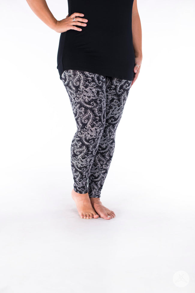 White Fern leggings - SweetLegs