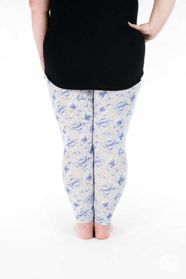 Darling Blue Plus leggings - SweetLegs