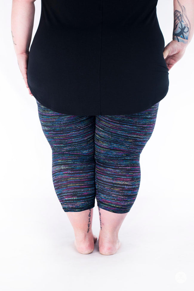 Blueberry Opal Plus2 Crops leggings - SweetLegs