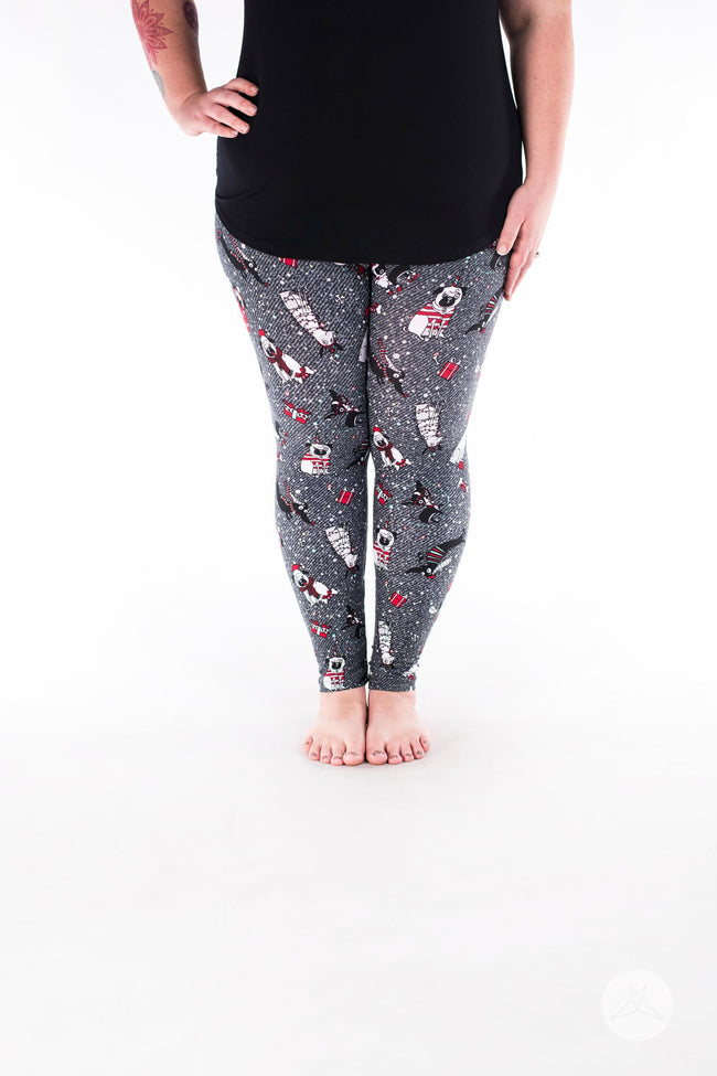 Santa Paws Plus leggings - SweetLegs