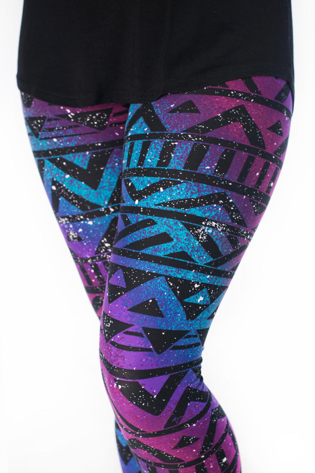 Rainbow Galaxy Petite leggings - SweetLegs