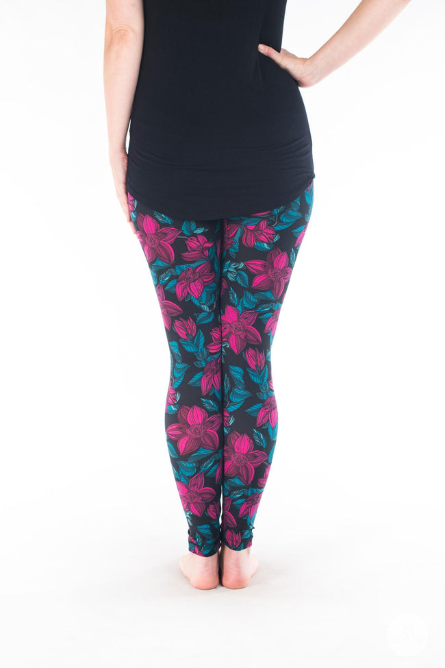 Winter Petals Petite leggings - SweetLegs