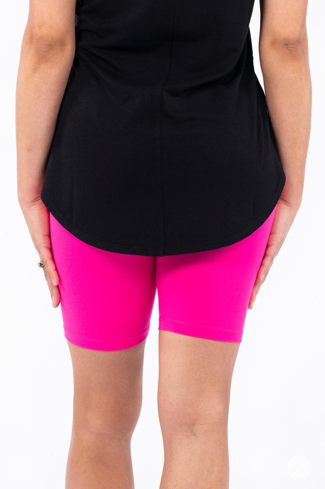 Hot Pop Petite Biker Shorts