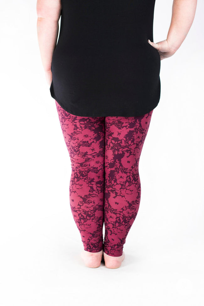 Summer Blush Plus leggings - SweetLegs