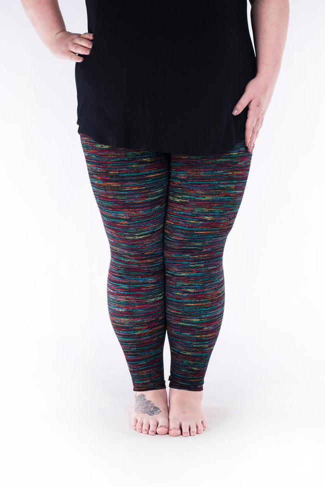 Rainbow Opal Plus leggings - SweetLegs