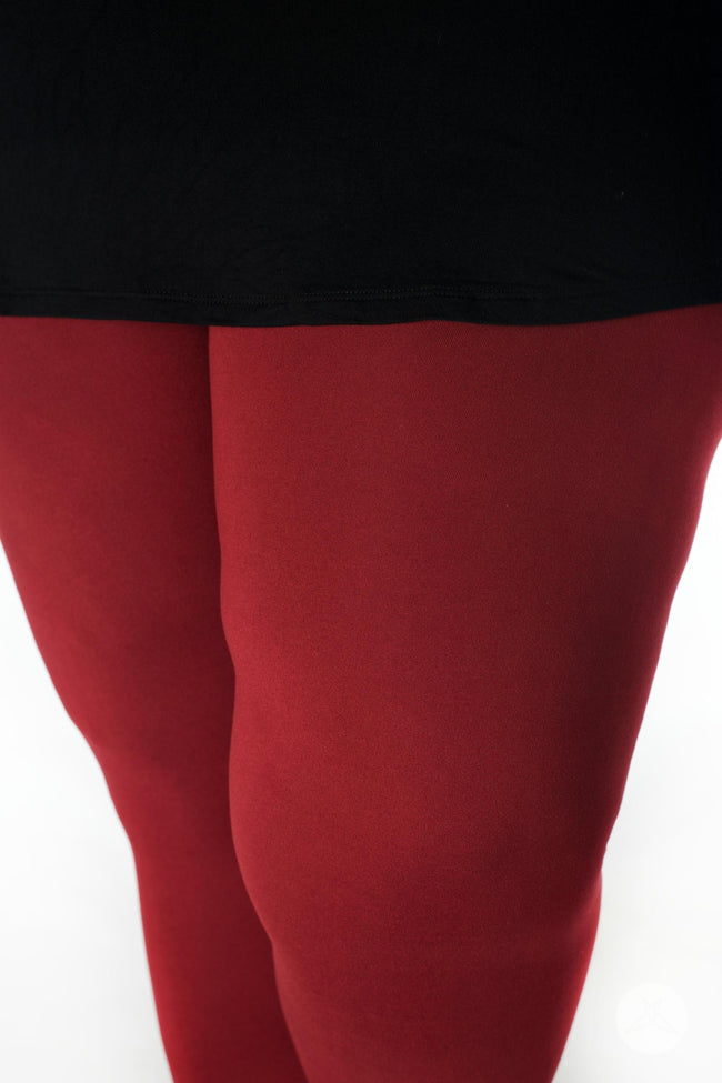 Maroon Plus leggings - SweetLegs