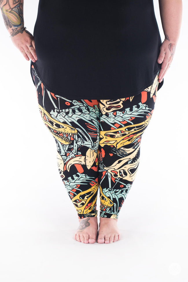 Fossil Feels Plus2 leggings - SweetLegs