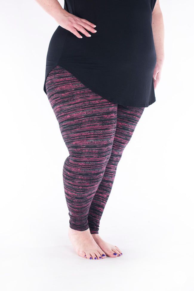Berry Opal Plus leggings - SweetLegs