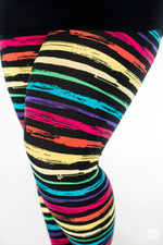 Rainbow Road Plus leggings - SweetLegs