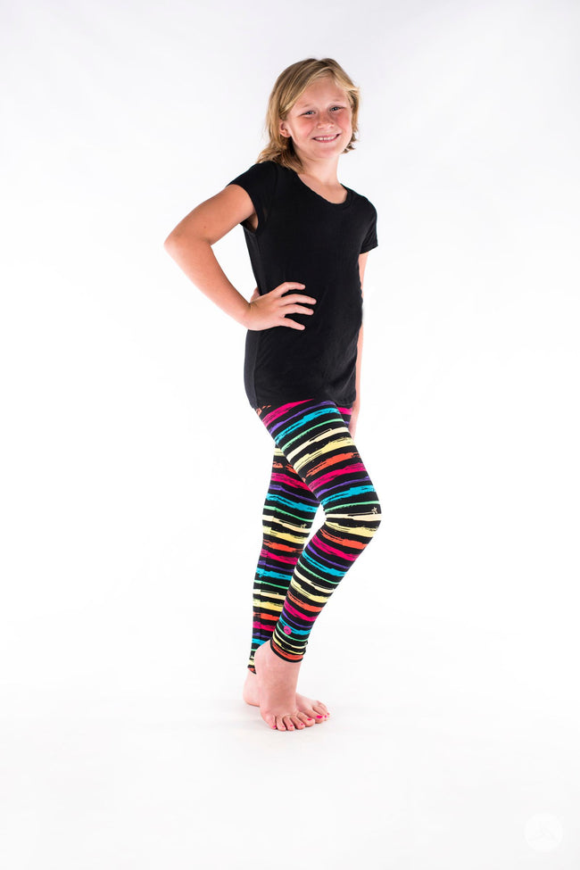 Rainbow Road Kids leggings - SweetLegs
