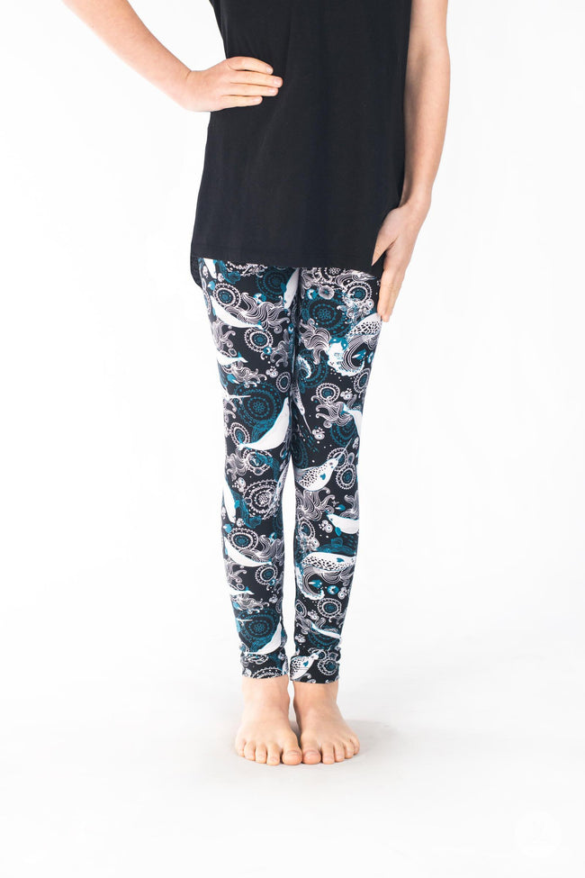 Deep Blue Kids leggings - SweetLegs