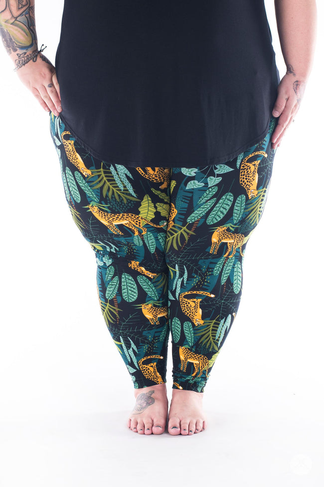 Leopard King Plus2 leggings - SweetLegs