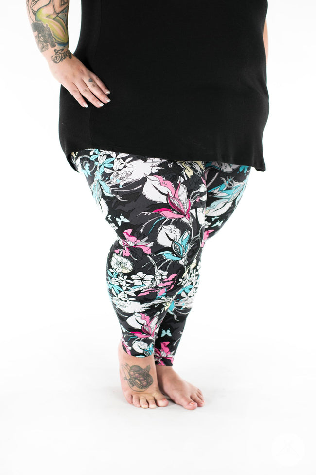 Fleur Real Plus2 leggings - SweetLegs