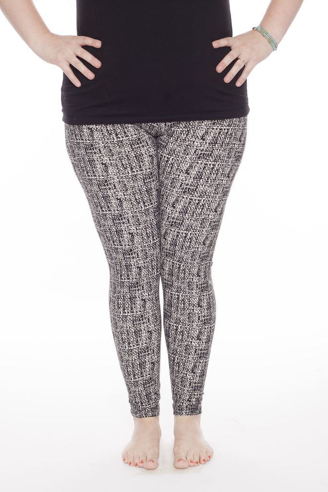 White Noise Plus leggings - SweetLegs