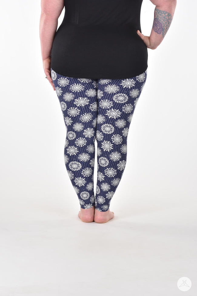 Snowy Nights Plus leggings - SweetLegs