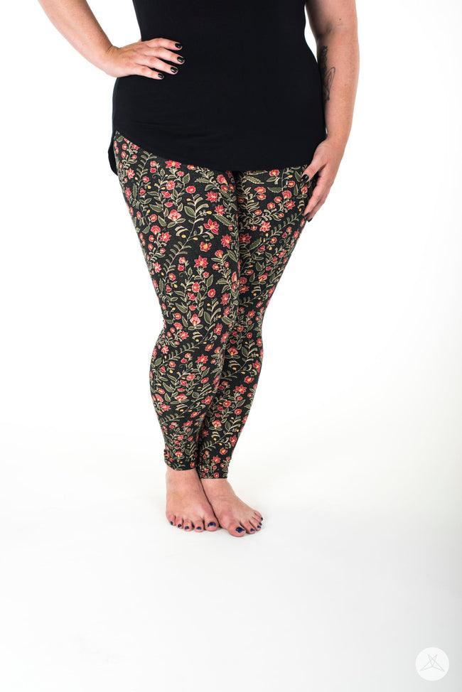 Harvest Blossom Plus leggings - SweetLegs
