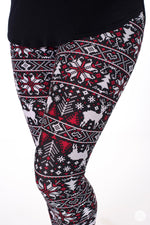 Cranberry and Spice leggings - SweetLegs
