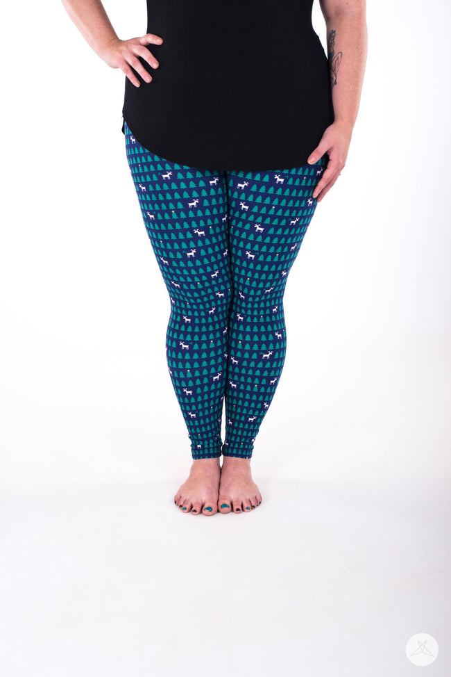 Reindeer Games Plus leggings - SweetLegs